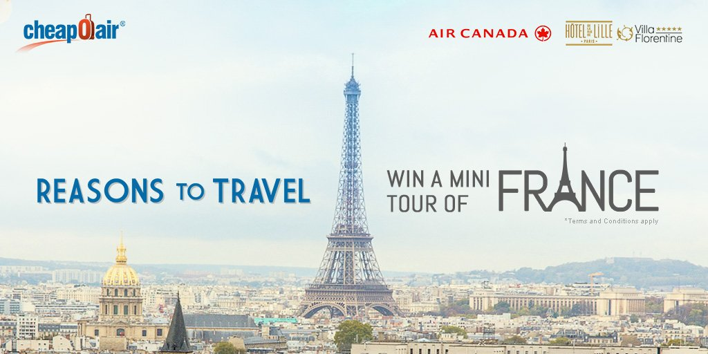 Here's a ReasonToTravel: Enter to WIN  mini tour of France! Click to learn more: