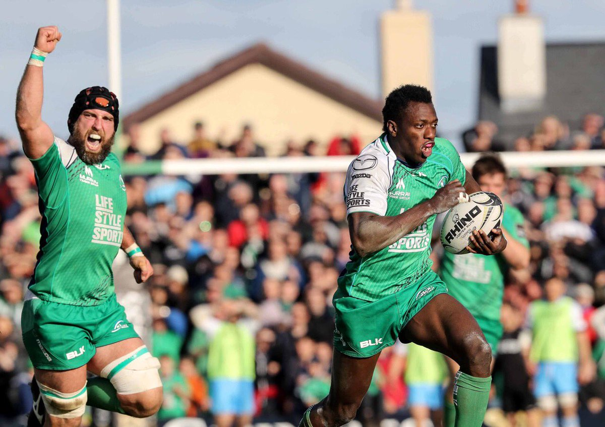 The moment of the first half, great moment from Niyi #CONvGLA #CRLive - plenty left to do to keep pro12 dreams alive https://t.co/xgRGdkeMFb
