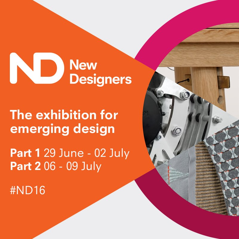Catch talks programme & visit @NewDesigners part1 specialising #textiles #craft #jewellery https://t.co/WcZFB9TPxG https://t.co/0feEYB1zzC