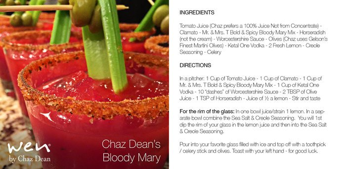 With Summer around the corner, get ready to spice it up with @CHAZDEAN's Bloody Mary recipe