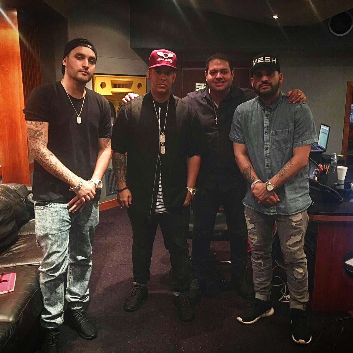 Epic last night w/ @daddy_yankee recording @JuanMagan new single coming soon #ibiza2016 https://t.co/3zqA3CSQMl