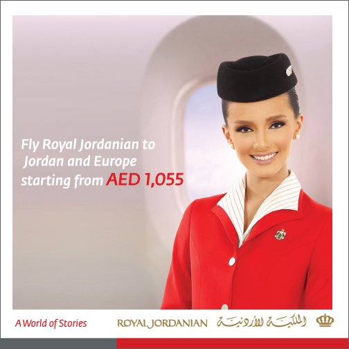 Benefit from our special fares & fly RJ from Dubai to Jordan & Europe. For info, visit