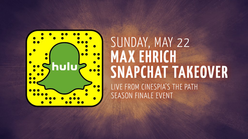 Ascend with @maxehrich at #ThePathOnHulu's @cinespia event on #hulu Snapchat today for a season finale preview. https://t.co/R0QAa5rnxf
