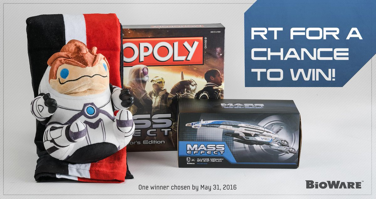Next up we've got some #MassEffect swag, including a Grunt Collector's Plushie from @TeamSanshee.