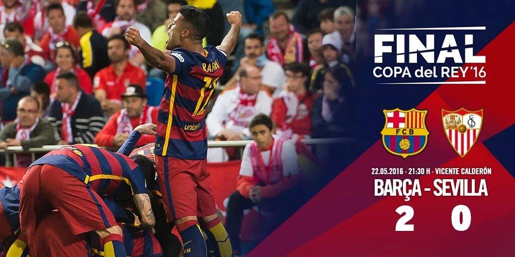 Barcelona campeón de la Copa del Rey 2016. Completa el doblete por segundo año seguido. @micheltueni @jmena26 https://t.co/ciMaZZrRoY