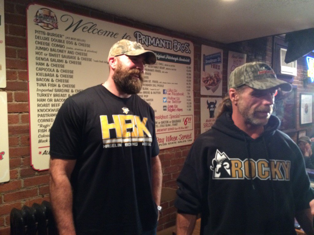 The original #HBK @ShawnMichaels with the one and only @bkeisel99 getting ready for the #Pens @WPXI https://t.co/jxvJNGjTYp