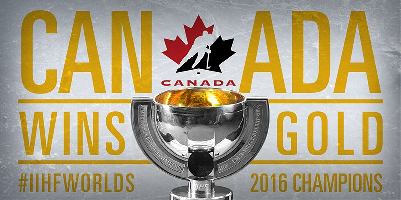 Canada keeps its title, #IIHFWorlds champs! https://t.co/ZuhuGMK72c