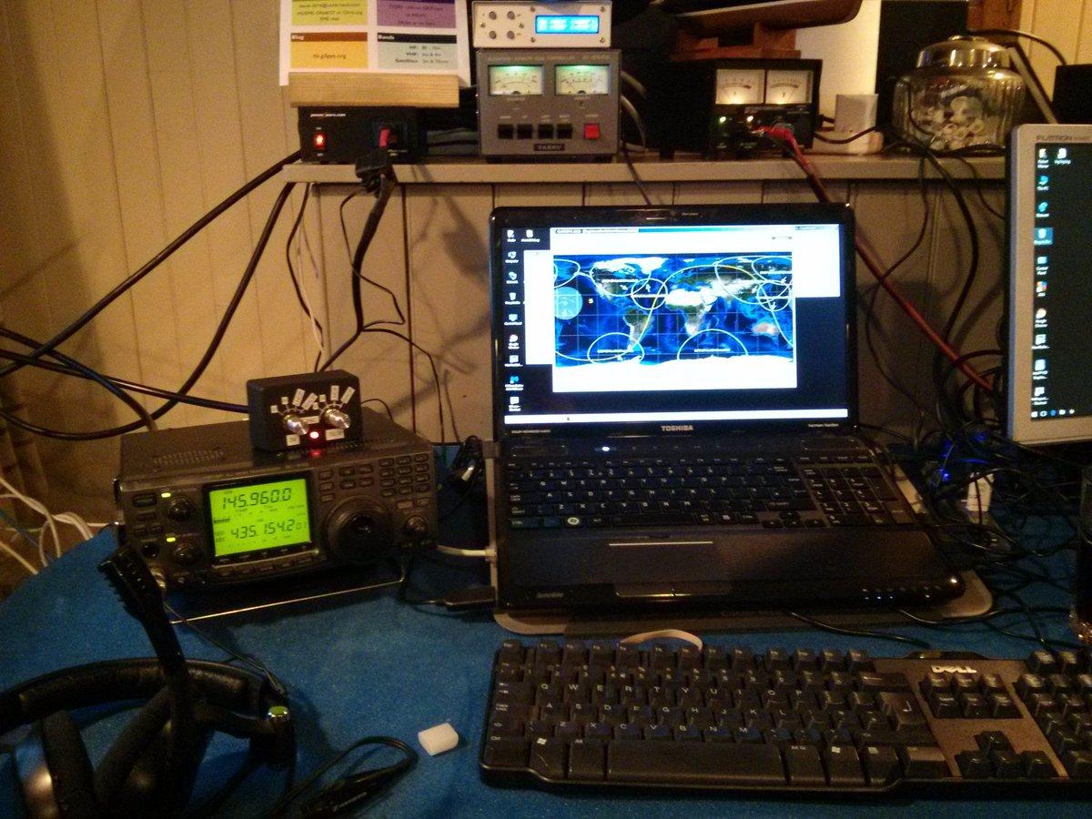 #amsat setup on the Isle of Arran. @g3pye #hamr https://t.co/dNR0alIvR8