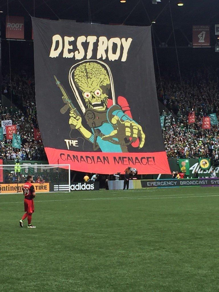 Portland vs Vancouver always fun. #whitecapsfc https://t.co/beSJINEGQ3