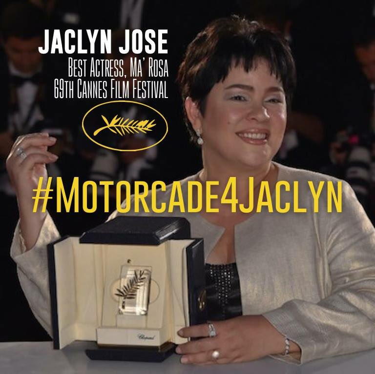 Let's trend #Motorcade4Jaclyn! Jaclyn Jose and the rest of the Ma' Rosa team deserve a motorcade welcome! https://t.co/kRSqSloR6V