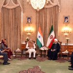 Discussed India-Iran ties with President Rouhani. His leadership & clarity of vision is extremely impressive. https://t.co/HVNZppH1Nr