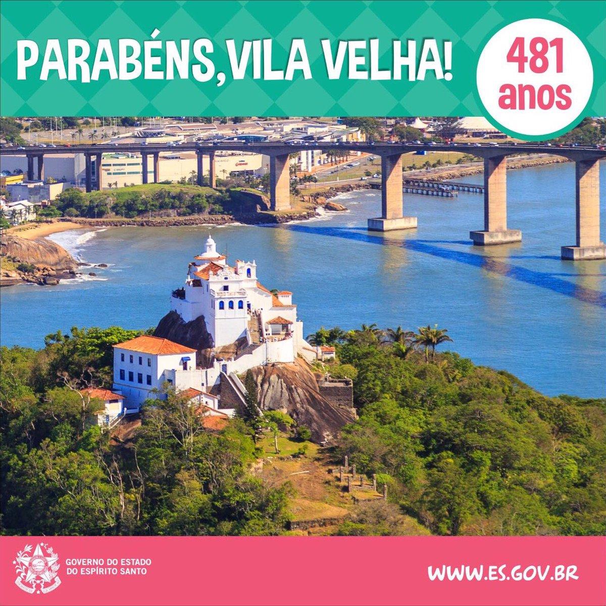 Parabéns, Vila Velha! 481 anos de história. A data marca também o início da Colonização do Solo Espírito-santense ;) https://t.co/6DOfUW3k0T