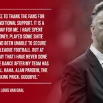 ICYMI: After being sacked, Louis Van Gaal has released the following statement... https://t.co/ryUluCzGdX