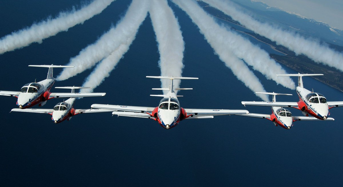 Look up! CFSnowbirds air demonstration team is coming tomorrow