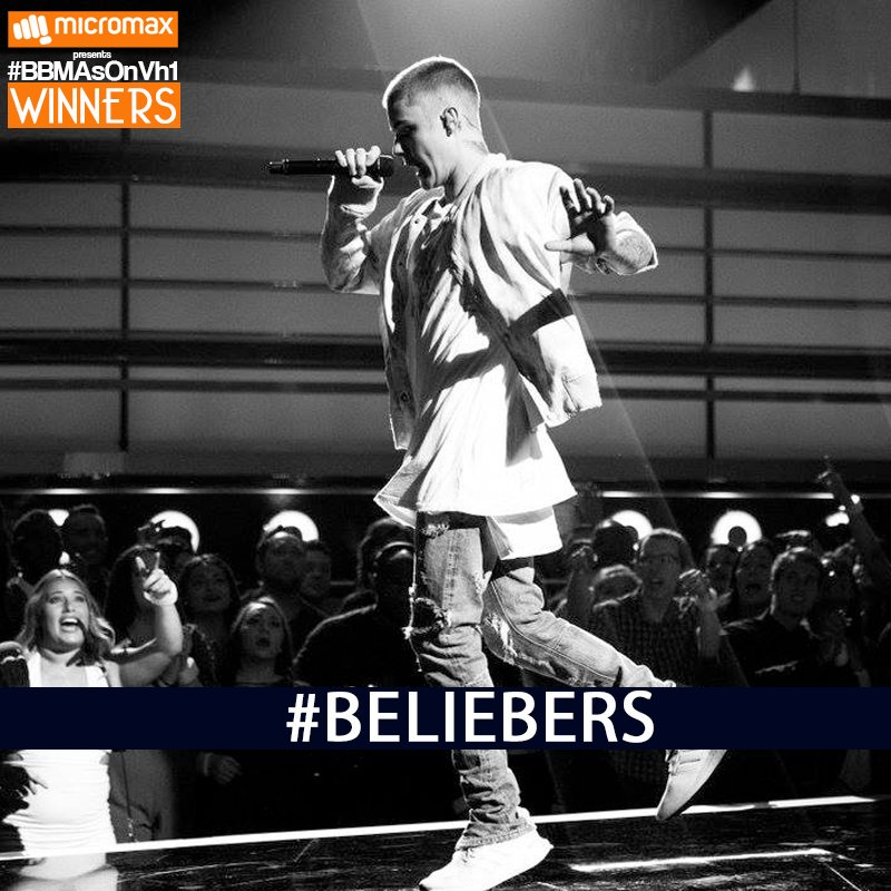 The Top Male artist is none other than @justinbieber! #BBMAs  #BBMAsOnVh1