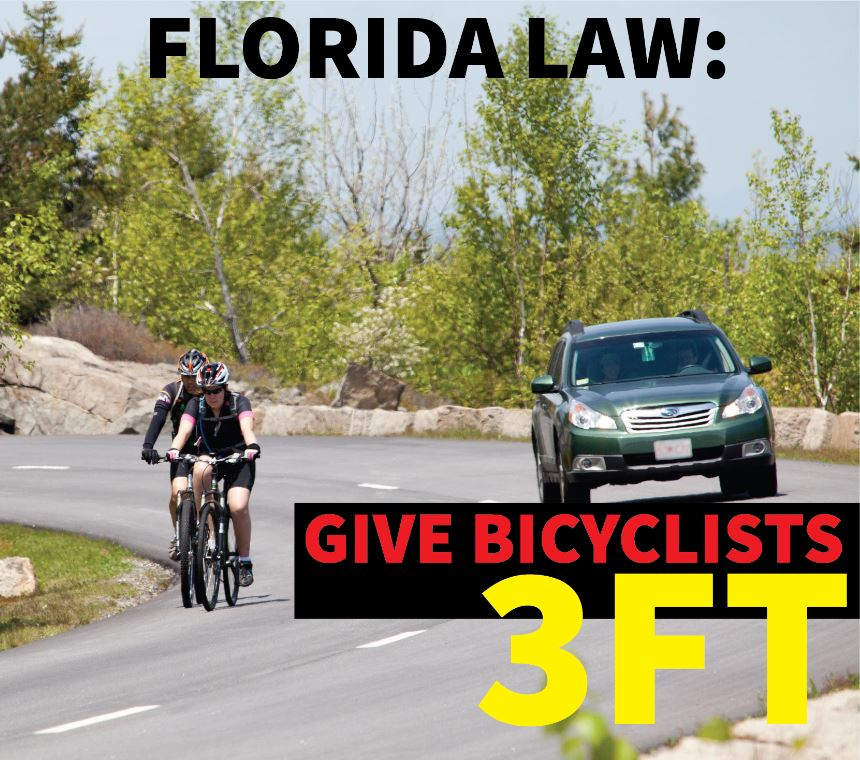 A motorist must give a bicyclist a minimum of 3ft of clearance when driving alongside or passing them. #SharetheRoad https://t.co/cbWm4P3O8w