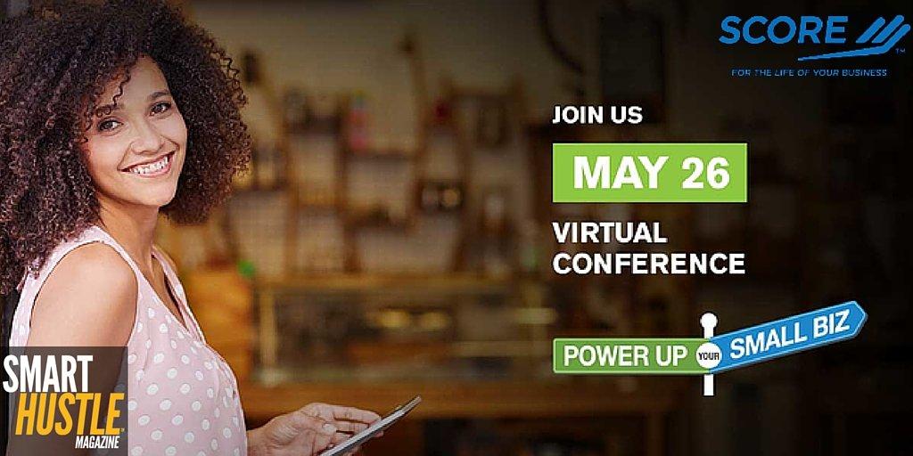 Join @SCOREMentors virtual conference 5/26, 12-5 pm EST for #smallbiz tips. https://t.co/d73SdqVpYb #PowerSmallBiz https://t.co/mN04dHwn8l