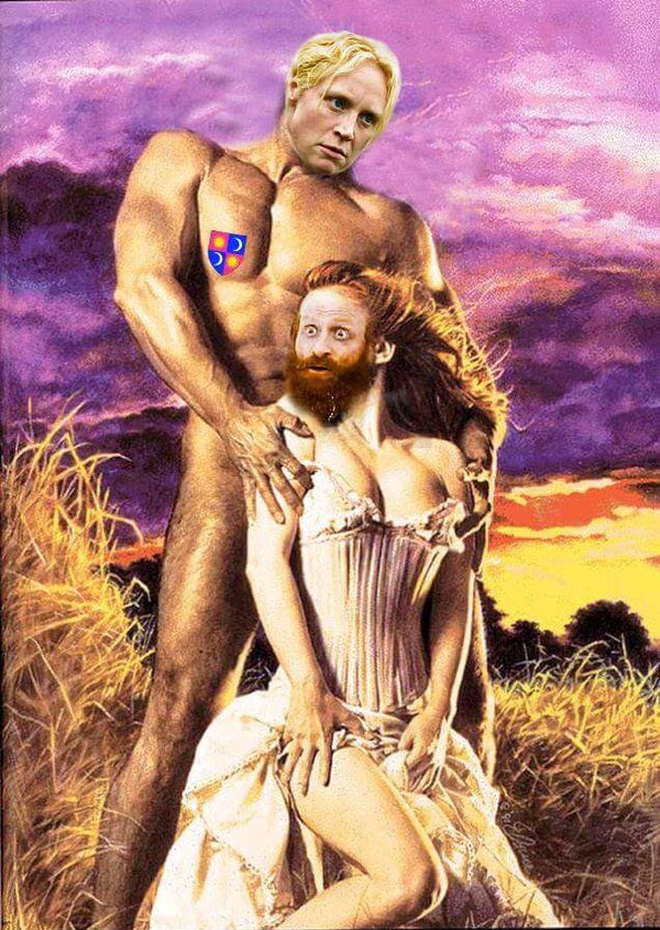 Props to whoever did this. It's amazing. ? Tormund x Brienne needs to be a full blown thing. #GameofThrones
