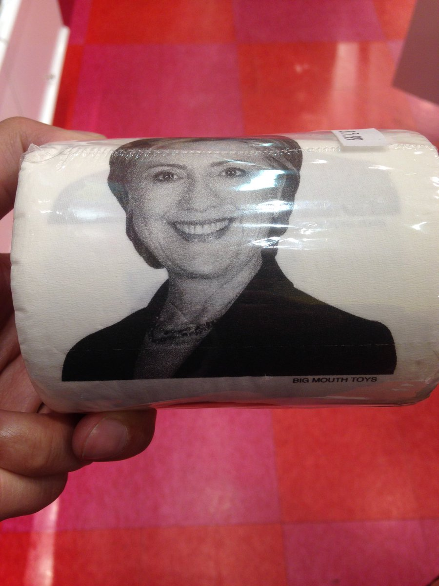 A Washington, on peut désormais acheter du papier toilette à l'effigie de Trump et de Clinton, d'après @abdulshaz