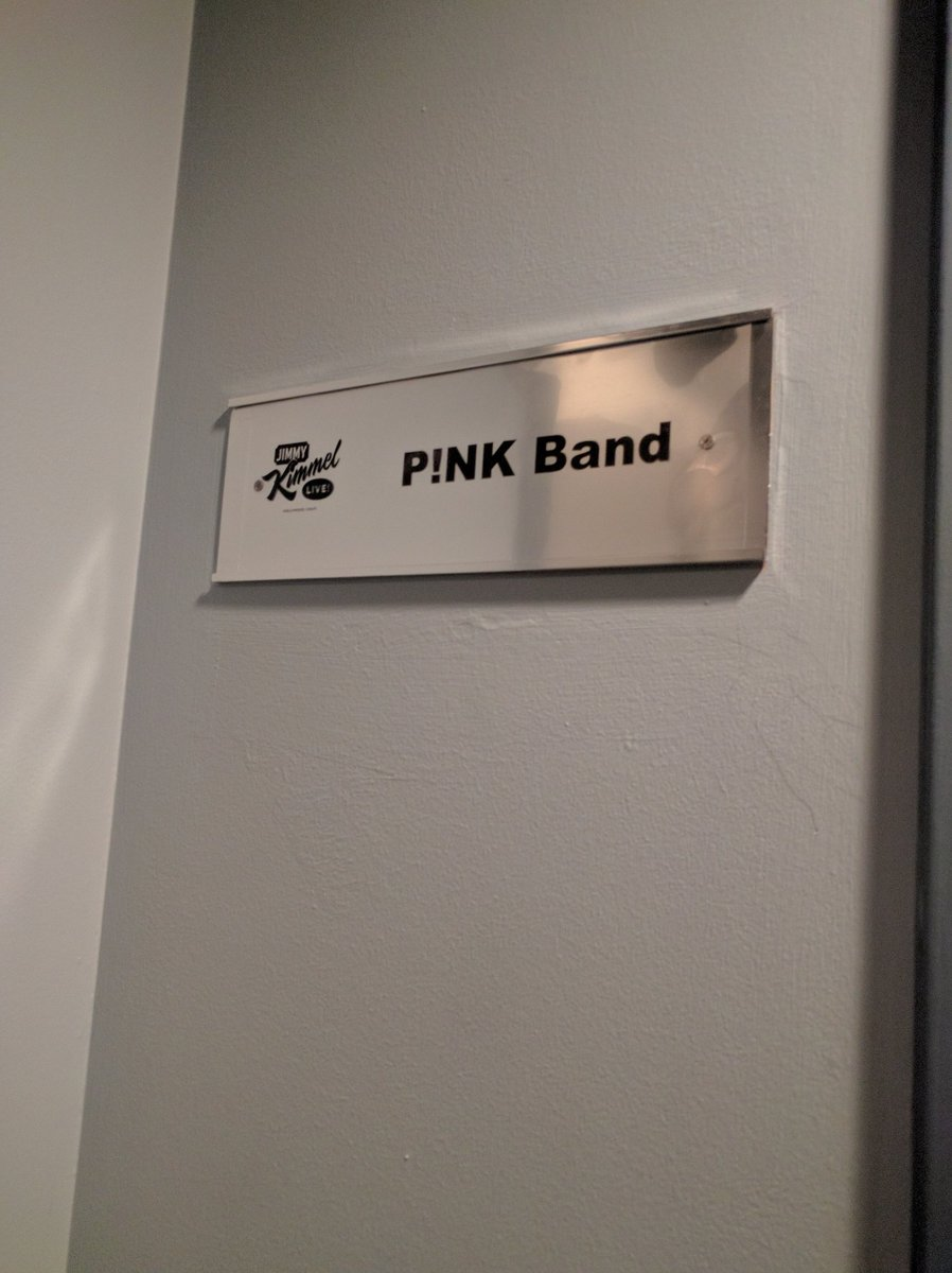 Stoked to be on @jimmykimmel with @Pink tonight...she just keeps getting more and more amazing. #grateful