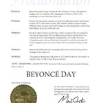 Governor Dayton and Lt. Governor @tinaflintsmith have proclaimed today as @Beyonce Day in MN https://t.co/JNkgkd3M5Z