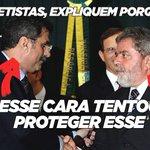 Explica isso, amigo MAV. Pq Jucá fala em proteger Lula no áudio em que fala sobre seu plano de segurar a Lava Jato? https://t.co/NX4L60k96P