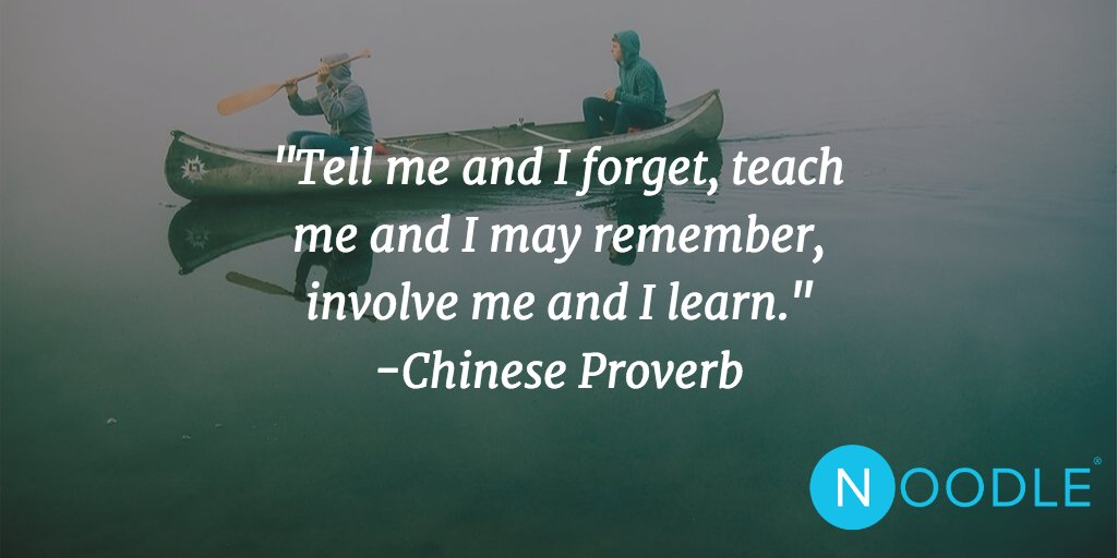 """Tell me and I forget, teach me and I may remember, involve me and I learn."" -Chinese Proverb #Quotes https://t.co/k6AppowL0X"