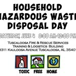 Join @tuscaloosacitys Environmental Services Dept & @NucorCorp for Household Hazardous Waste Disposal Day June 4. https://t.co/zQHQ9g15R8