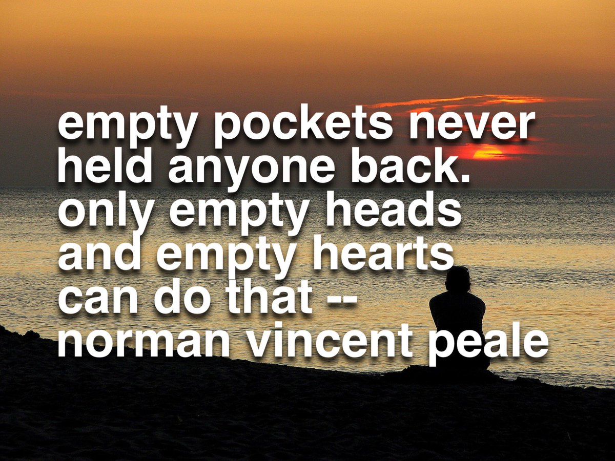 Empty pockets never held anyone back. Only empty heads and empty hearts can do that | #positive #successfulpeople https://t.co/lUii7l0E2O