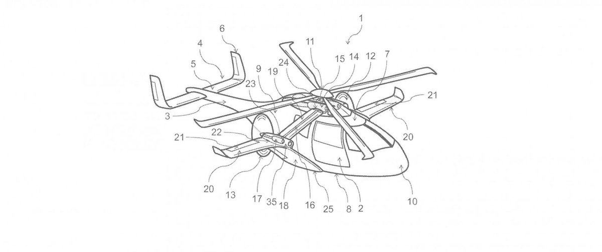 Airbus files patent for super speedy helicopter with unique design.