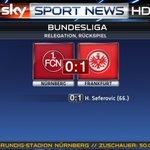 Schockstarre in Nürnberg - Jubel am Main. Eintracht Frankfurt bleibt erstklassig. #ssnhd #FCNSGE #SkyBuli https://t.co/FRSUIwt2Vf