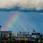 Rainbow yesterday in Murrells Inlet, SC. Do you see the plane? @bobvandillen @RobinMeade @javahericnn #YourTake https://t.co/2MQHeGwJV4