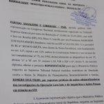 PSOL protocolou na tarde de hoje representação na PGR pedindo a prisão de Romero Jucá por obstrução da justiça https://t.co/CL8jddGjRn