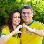 Romero Jucá e a mulher posando de verde e amarelo, unidos contra a corrupção no Brasil! https://t.co/aHyF11zKzP