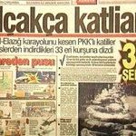 Tam 23 yıl önce bugün 33 askerimiz pkklı teröristler tarafından kalleşçe, alçakça şehit edildi. https://t.co/l23UVLWZb8