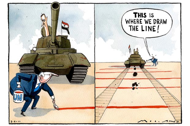 Very prophetic 2011 cartoon about #Syria --  Applies to the US, the EU https://t.co/WzfLI92jl8