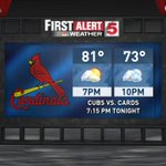 Hey #STL Great evening as the Cubs come to town while the Blues are down the street Storm chances start Tue #stlwx https://t.co/HGqQYo9SzJ