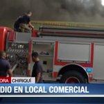 Se desconocen cantidad a que ascienden daños por incendio en local comercial de David, Chiriquí. Siguen las labores https://t.co/ZnjFIgxEhW