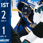 The Sharks open scoring but the #stlblues answer back with two to take the lead after 20 minutes. #WeAllBleedBlue https://t.co/BDMf9b95EM