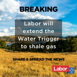 A Shorten Labor Government will extend the current Water Trigger to include shale gas projects. #ausvotes https://t.co/BEf3IKyr6y