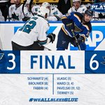 The #stlblues fall to the Sharks 6-3. Game 6 on Wednesday in San Jose. #WeAllBleedBlue https://t.co/tr5xPqSv6b