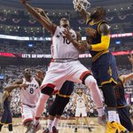 And the series is tied! The Raptors beat the Cavaliers 105-99 to even their Eastern Conference Finals series 2-2. https://t.co/vZTFZ4HafU