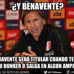 Atención Hincha!! Esto tendría que pasar para que Benavente sea titular en la selección peruana. #CHONGOPERU4NO!! https://t.co/jm1fwMpNKZ
