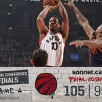 Ball game. Raps win! Were all tied up. Off to Cleveland for Gm 5. @SonnetInsurance Final: https://t.co/EenpBnN9UD https://t.co/UabWxwIDMy