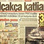 23 yıl önce bugün 33 SİLAHSIZ askerimiz pkklı teröristler tarafından kalleşçe,alçakça şehit edildi.  Unutmayacağız! https://t.co/spJaPQNkFF