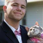 【姉が写真をさらす…】男子高生、女の子誘えなくてプロムに猫を連れて行く→人気爆発(画像) https://t.co/iWFVHBM5Ns https://t.co/msmVEZ05uP