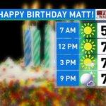 #HappyBirthdayMatt! Mainly sunny & warmer today! Highs climb near 80° @MattWPDE https://t.co/N85BPp3rGr