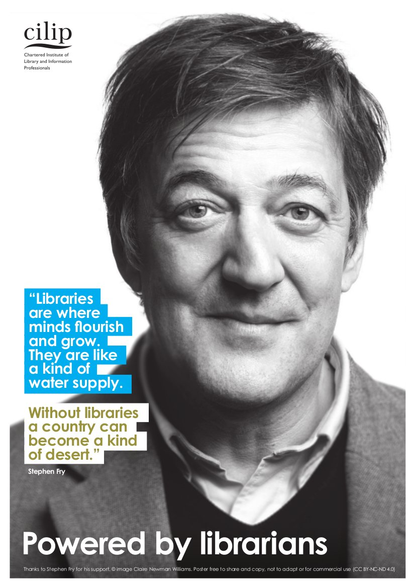 Free Stephen Fry posters for libraries https://t.co/Hw6GAptvqJ https://t.co/TpuGg5tdBk