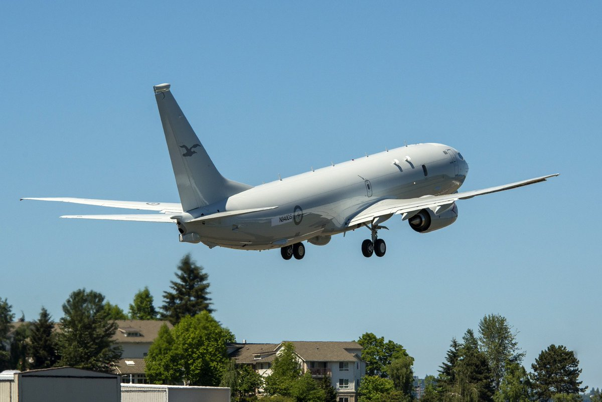 First P-8A aircraft for the Royal Australian Air Force leaves Renton Field for Boeing Field, US #Defence-CASG https://t.co/tbztItP36p