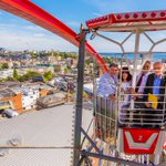 The Mayor and Mayoress of Bournemouth, John and Suzi Adams enjoying their ride on Bmths Big Wheel #lovebournemouth https://t.co/3x9iIohtDP